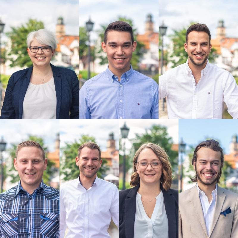Mit sieben jungen Leuten aus den Reihen der Jungen Union tritt die Lauterbacher CDU zur Stadtverordnetenwahl an: Jennifer Gießler, Joshua Östreich, Bastian Fugmann, Konrad Wiegel, Pascal Paepke, Gesine Schönhals und Fynn Mirschel (von links)